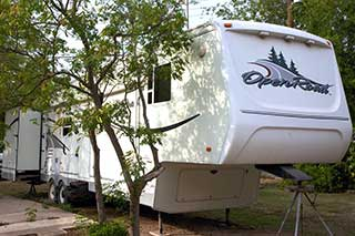 Trailer rental at Oleander Acres