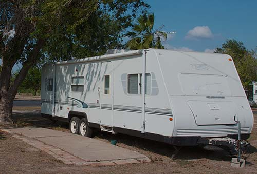 Travel trailer with pad for rent